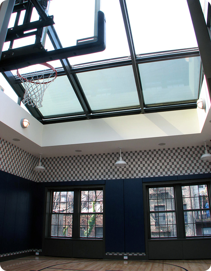 Basketball Court Retractable Skylights