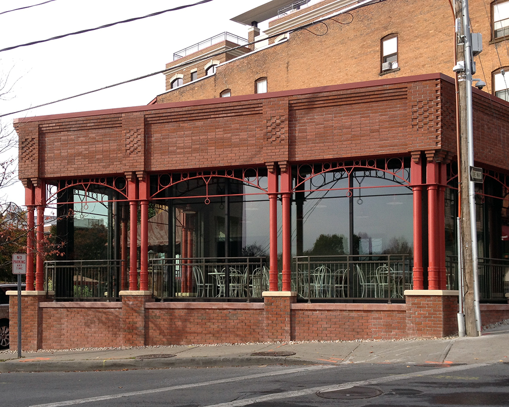 Commercial Sliding Glass Walls Resturant Exterior