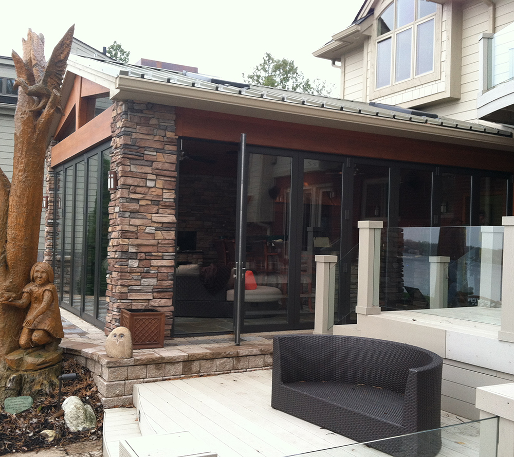 Folding Glass Wall Residential in Sunroom