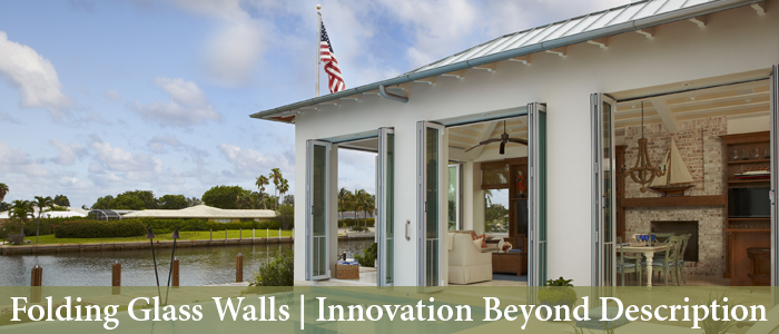 Folding Glass Walls by Solar-Innovations, Inc.