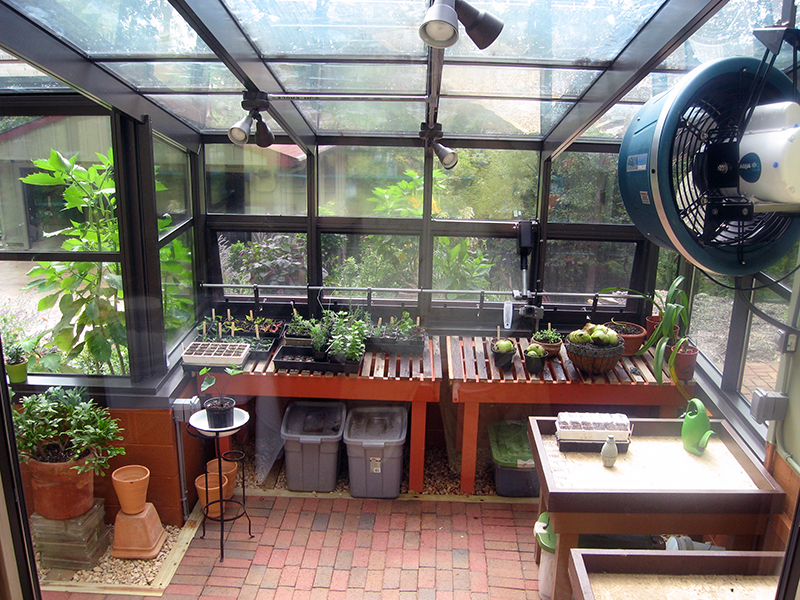 Interior Beuno Vista Residential Greenhouse