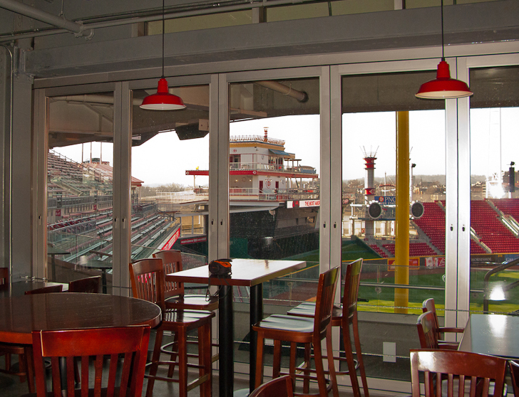 Cincinnati Reds Stadium | Great American Park | Stacking Glass Walls