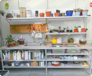 Greenhouse Potting Bench