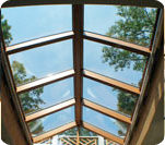 Wood interior Skylights