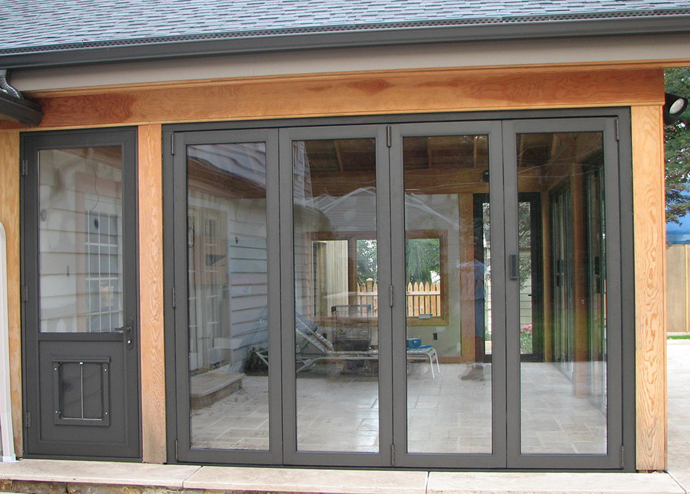 Folding Glass Wall Dog Doors