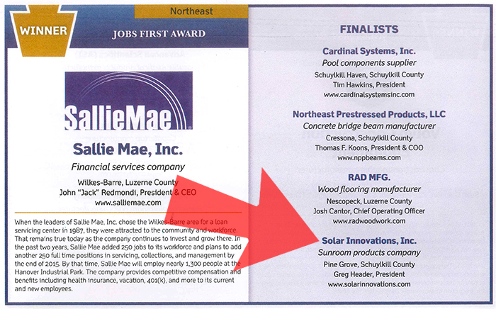 Jobs First Finalist Solar Innovations